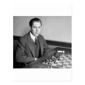 Cartão Postal Jogador de xadrez do campeão do mundo, 1915
