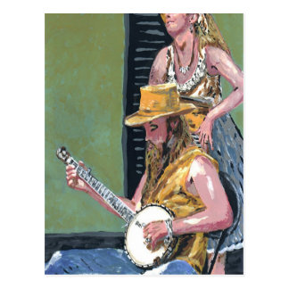 Cartão Postal Jogador do banjo de Nova Orleães