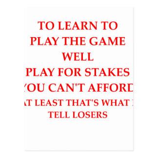 Cartão Postal jogador do jogo