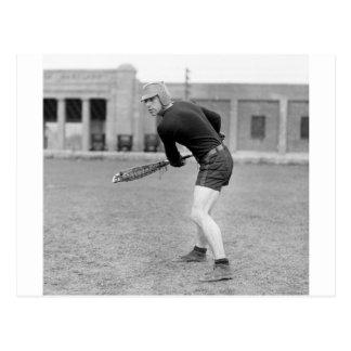Cartão Postal jogador do Lacrosse do 1920