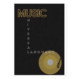 Cartão Postal Jogador gravado do poster da música do vintage