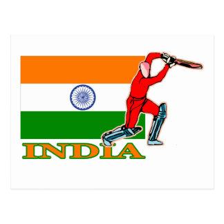 Cartão Postal Jogador indiano do grilo