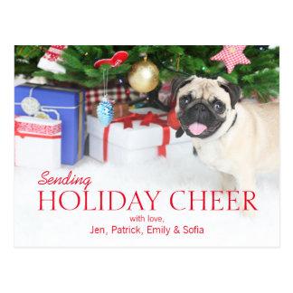 Cartão Postal Jogando o cão do Pug