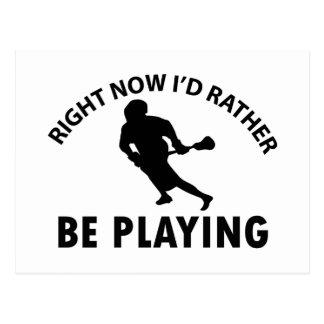 Cartão Postal Jogando o lacrosse
