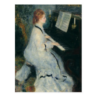 Cartão Postal Jogando o piano pela luz de vela