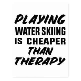 Cartão Postal Jogar o esqui aquático é mais barato do que a