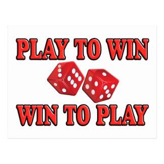 Cartão Postal Jogo a vantajoso para as duas partes para jogar -