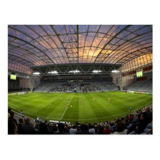 Cartão Postal Jogo de futebol, estádio de Forsyth Barr, Dunedin