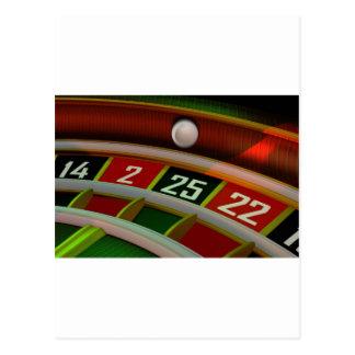 Cartão Postal Jogo do casino de Rulet da roleta