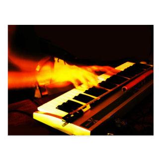 Cartão Postal Jogo do teclado