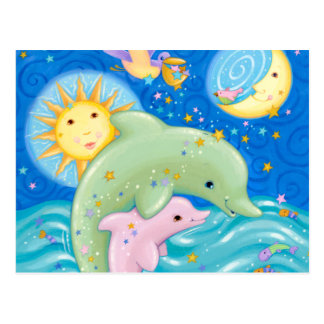 Cartão Postal Jogo dos golfinhos