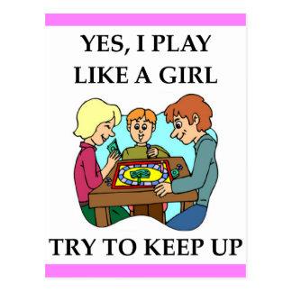 Cartão Postal Jogos de mesa
