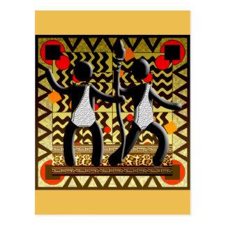 Cartão Postal Jogos Olímpicos africanos que funcionam passando a