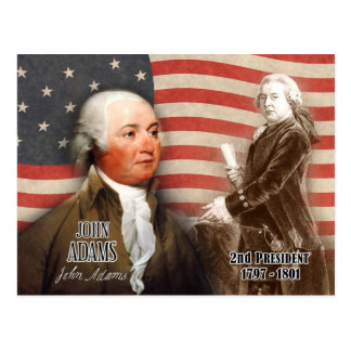 Cartão Postal John Adams - ò presidente dos E.U.