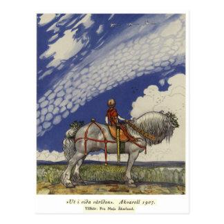 Cartão Postal John Bauer - no mundo largo