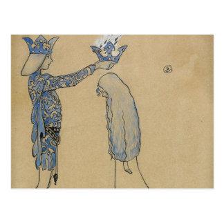 Cartão Postal John Bauer - pnha então o príncipe uma coroa do