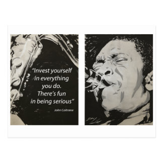 Cartão Postal John Coltrane