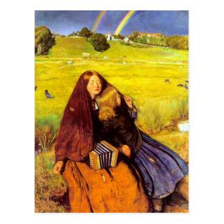 Cartão Postal John Everett Millais- a menina cega