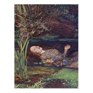 Cartão Postal John Everett Millais Ophelia
