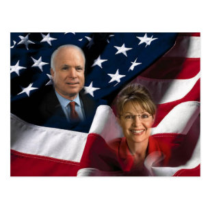 Cartão Postal John McCain & Sarah Palin, 2008 eleições