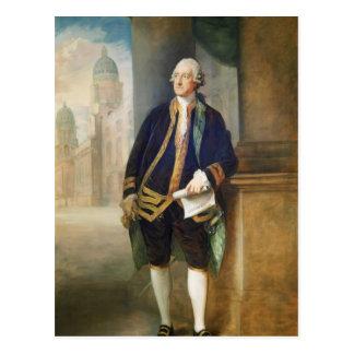 Cartão Postal John Montagu por Thomas Gainsborough