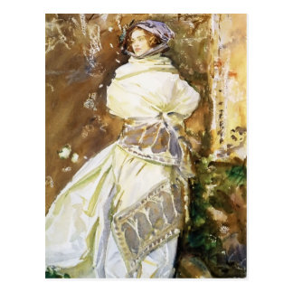 Cartão Postal John Singer Sargent: O xaile da caxemira