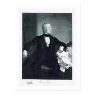 Cartão Postal John Tyler, 10o Presidente dos Estados Unidos de
