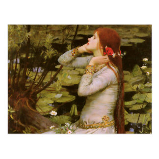 Cartão Postal John William Waterhouse Ophelia