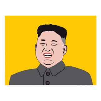 Cartão Postal Jon-un de riso de Kim