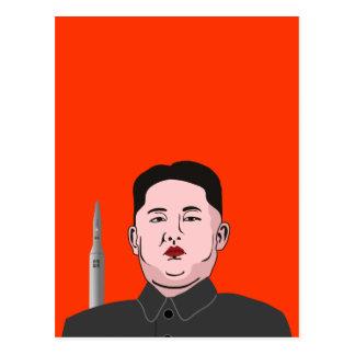 Cartão Postal Jong-un de Kim & míssil nuclear