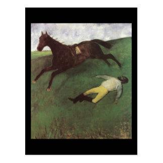 Cartão Postal Jóquei caído Edgar Degas