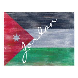 Cartão Postal Jordão afligiu a bandeira jordana