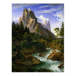 Cartão Postal Joseph Anton Koch, Wetterhorn von der Rosenlaui