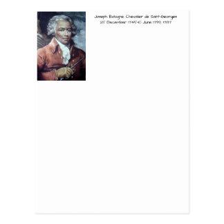 Cartão Postal Joseph Bologne, Cavaleiro de Santo-Georges