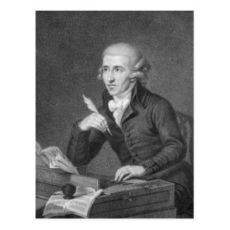 Cartão Postal Joseph Haydn gravou por Schiavonnetti, 1792