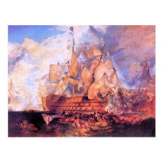 Cartão Postal Joseph Mallord Turner - batalha de Trafalgar 2