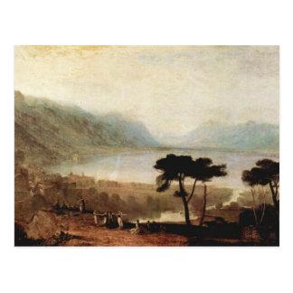 Cartão Postal Joseph Mallord Turner - lago Genebra em Montreux