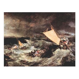 Cartão Postal Joseph Mallord Turner - Shipwreck