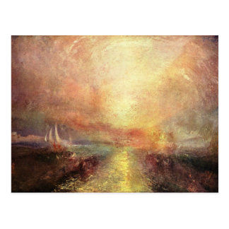 Cartão Postal Joseph Mallord Turner - Yacht aproximando os coas