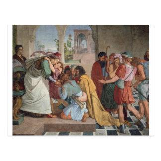 Cartão Postal Joseph revela-se a seus irmãos - Cornelius