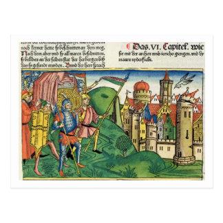 Cartão Postal Joshua 6 4-21 a queda de Jericho, 'do Nurem