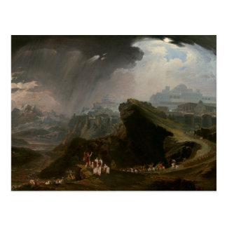 Cartão Postal Joshua e a batalha em Gibeon