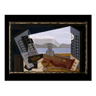 Cartão Postal Juan Gris a janela aberta