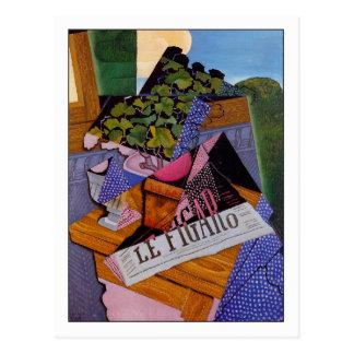 """Cartão Postal Juan Gris """"um pote dos gerânio """""""