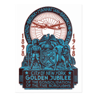 Cartão Postal Jubileu 1948 do ouro de New York