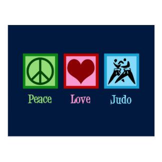Cartão Postal Judo do amor da paz