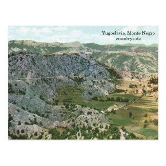 Cartão Postal Jugoslávia, campo do negro de Monte