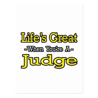 Cartão Postal Juiz do excelente da vida…