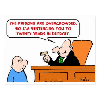 Cartão Postal juiz vinte anos de detroit
