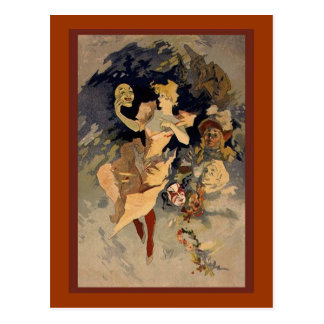 "Cartão Postal Jules Cheret ""La Danse"" 1891"